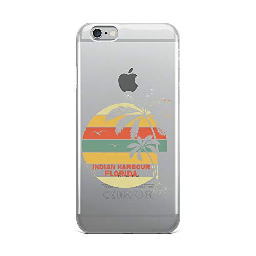iPhone 6 Plus/6s Plus Pure Clear Case Crystal Clear Cases Cover Vintage Florida Indian Harbour Beach Cool Retro Transparent