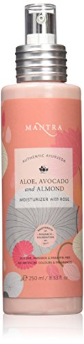 Mantra Authentic Ayurveda Herbal Aloe, Avocado & Almond Moisturizer With Rose for All Skin Types FREE from chemicals, Silicon, Paraben, and Paraffin (250 ml / 8.33 fl oz)