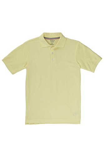 French Toast Boys' Big Short Sleeve Pique Polo, Yellow, XXL (18/20) by French Toast