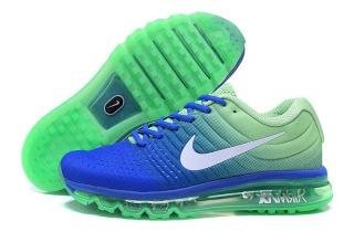 big sale d388e 1b9c9 Air Max 2017 Men Running Imported Royal Blue Green Sports Shoes