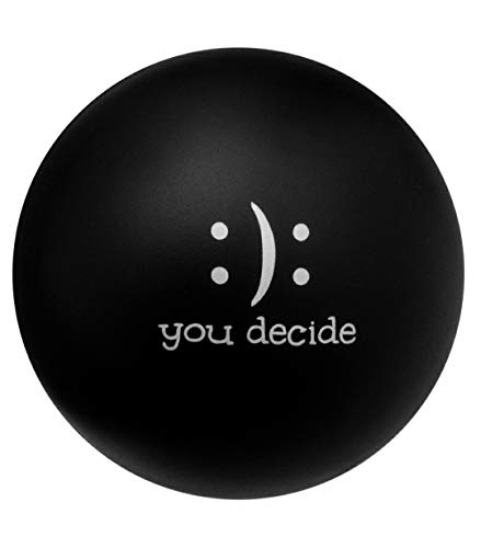 Hand Therapy Stress Ball -Stress Relief Ball w/ Motivational Message - Strengthening Hands, Rehabilitation, ADHD - Eco-Friendly, Non-Toxic, Soft & Durable - For Kids & Adults(Black)