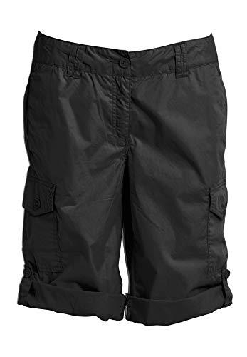 Ellos Women's Plus Size Convertible Cargo Shorts - Black, 12