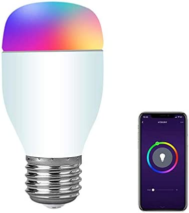 SIPAILING Smart Light Bulb WiFi Smart Bulbs Dimmable Multicolor LED Bulb Work with Alexa Google Home and IFTTT No hub Required , E27 7W RGBW Color Changing Bulb 1 Pack