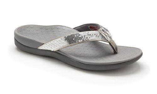 98b2981820e3 Vionic Women s Silver with Orthaheel Tide Sequins 8 B(M) US (B00DZBBJS8)