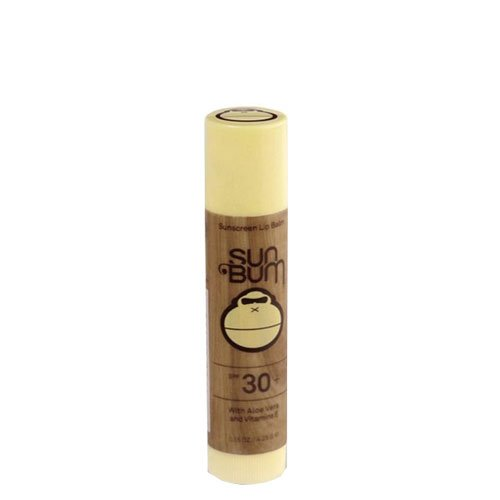 Sun Bum Banana Sunscreen Lip Balm, SPF 30, 0.15 oz Stick, 1 Count, Broad Spectrum UVA/UVB Protection, Hypoallergenic, Paraben Free, Gluten Free, Vegan