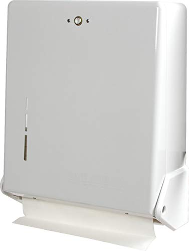San Jamar Wall Mount - San Jamar T1905WH  True Fold Commercial Towel Dispenser, 500 Multifold / 300 C-Fold Towel Capacity, White