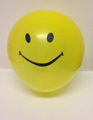 Top Grade 10 Pc Yellow Smile Face Latex Balloons For Decoration,Celebrating, and Party Favors ()