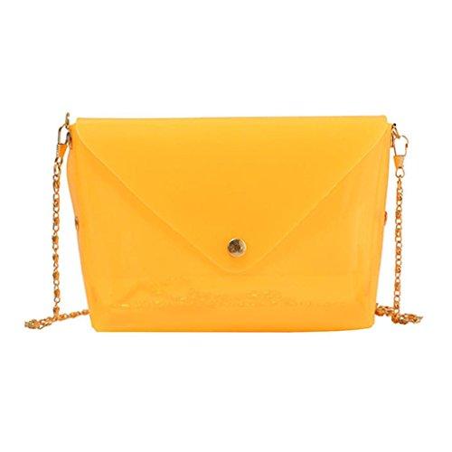 hunpta Fashion - Bolso bandolera impermeable para mujer Amarillo
