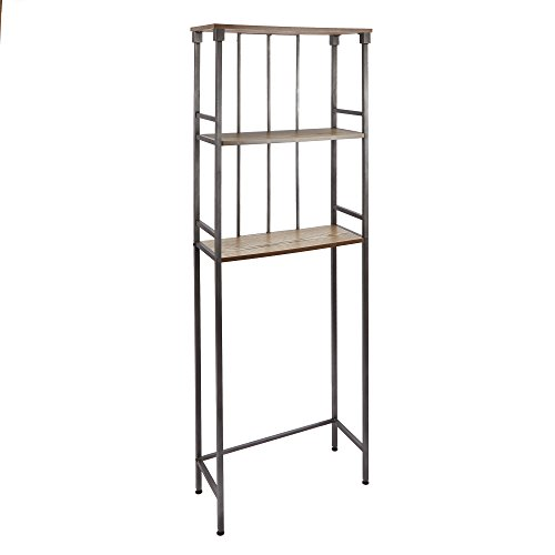 """Silverwood Mixed Material Bathroom Collection 3-Tier Spacesaver 3, 66"""" H, Gunmetal"""