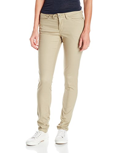 Dickies Women's 5-Pocket Slim Skinny Stretch Twill Pant, Desert Sand, 6 Regular ()
