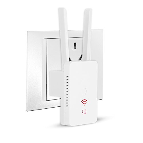 Wifi Range Extender, Slopehill 300Mbps Smart Wireless Signal Booster High Gain Dual External Antennas Repeater/AP Mode USB Charging Port with WPS