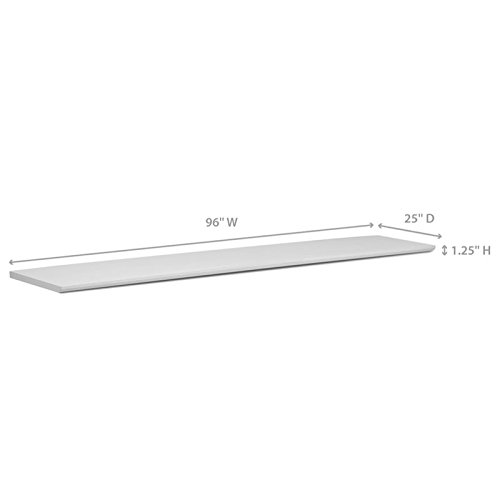 NewAge Home Bar 96'' x 25'' Countertop in White by New Age
