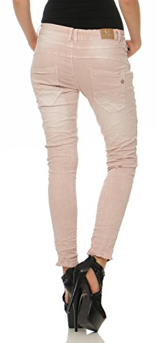 2760 Donna Lexxury Jeans Larghi Ragazzo Chino Da Pantaloni Rosa Cl xvZWnv8