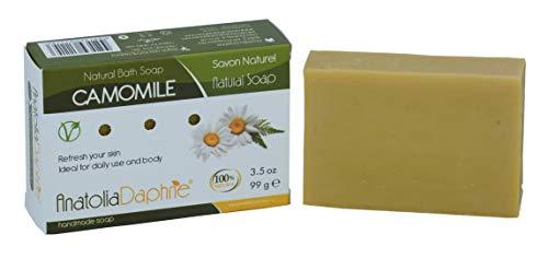 100% Natural, Vegan, Moisturizing, Non GMO, Body & Face Detox Traditional Handmade Soap Spa Bar Gift Set, 3.5 oz (Camomile, 4)
