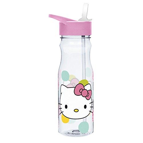 Zak Designs HLOC-P280 Hello Kitty Tritan Straw Bottle, 25 oz