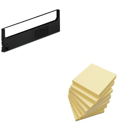 KITDPSR1800UNV35668 - Value Kit - Dataproducts R1800 Compatible Ribbon (DPSR1800) and Universal Standard Self-Stick Notes (UNV35668) - Dataproducts R1800 Compatible Ribbon