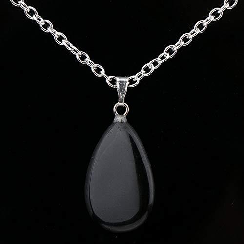 Hemau Amethyst Quartz Tiger Eye Natural Stone Heart Pendants Necklace Choker Jewelry | Model NCKLCS - 803 | - Tigers Necklace Eye Geometric
