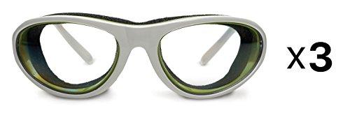 RSVP Onion Goggles w/ Case Tear Free Anti Fog Cutting Chopping WHITE (Onion Case)