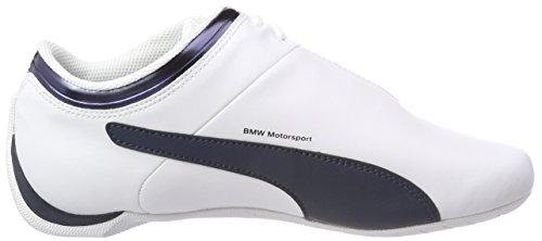 Puma BMW Ms Future Cat, Scarpe da Ginnastica Basse Unisex – Adulto Bianco (Puma White-team Blue)