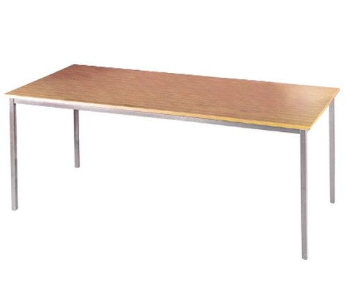 Silver Leg Rectangular Table By Ready Office - Height: 725 MM; Width: 1800 MM; Depth: 800 MM - Color: Maple