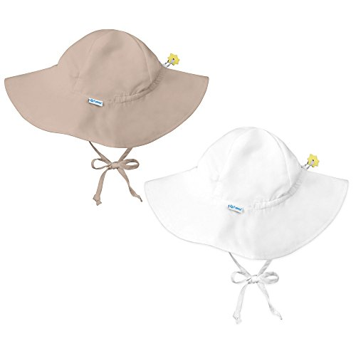 wholesale i play 2 Pack UPF 50+ Sun Protection Wide Brim Baby and Toddler Sun Hats Khaki save more
