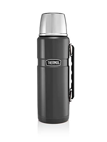 Thermos Stainless King Flask, Gun Metal, 1.2 L