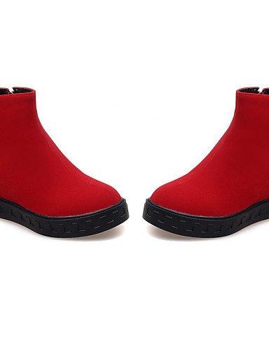 Negro Azul Ante De Botas Vestido 5 Mujer Punta Eu39 Zapatos Eu42 Cn43 Blue 5 Uk8 5 Xzz Sintético Cn40 Redonda us8 Rojo Uk6 5 Plataforma Botines Red us10 zw5Pn7q