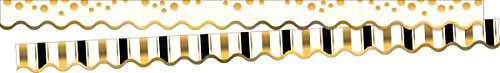 Barker Creek Double-Sided Border / Scalloped Edge 2 pack - Gold Coins (BC3698) - Edge Scalloped Cardstock