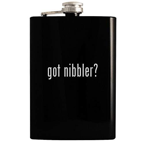 got nibbler? - 8oz Hip Drinking Alcohol Flask, Black