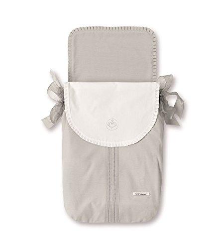 Bimbi Elite–Bag Tasche, 35x 77cm, weiß und grau