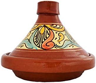 Marokkaanse tajine pan om te kokenstoofpan geglazuurd chaouen26 cm 13 personeninclusief recept en gebruiksaanwijzingoriginele ton pot met de hand gekookt uit Marokko