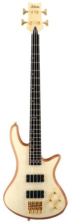 Schecter Stiletto Custom-4 Electric Bass (4 String, Natural Satin)