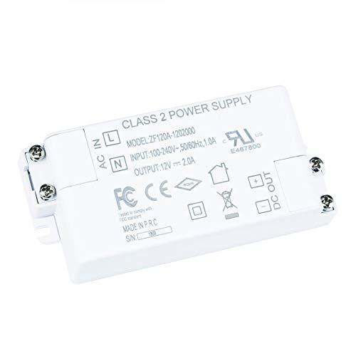 - 12V Power Supply Driver, KLG LED Driver-24W, 100-240V AC to 12V DC UL-Listed Transformer for G4, MR16, LED Strip Light ect