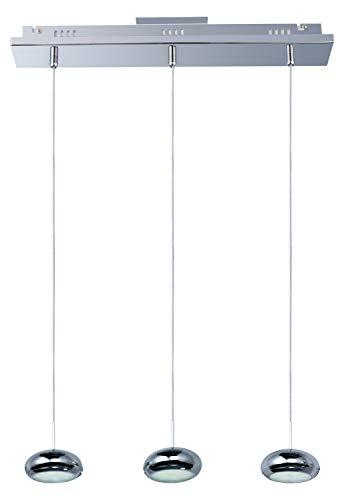 Dial 3-Light Led Linear Pendant