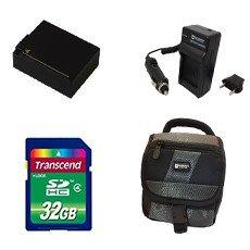 Panasonic Lumix DMC-G7 Digital Camera Accessory Kit Includes: SDDMWBLC12 Battery, SDM-1537 Charger, SD32GB Memory Card, SDC-27 Case