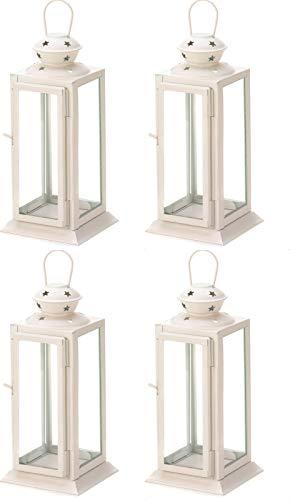 Anya Nana 4 pcs.Soft White Starlight Candle Holder Lantern Table Wedding Centerpieces