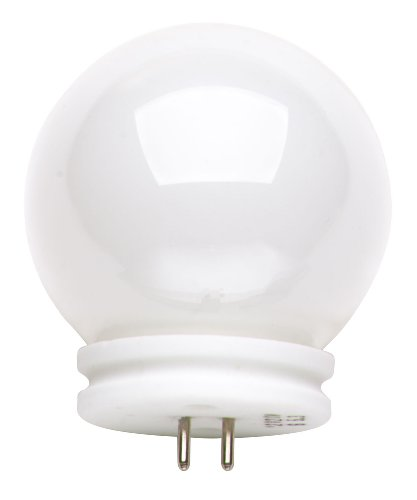 Satco S3189 12V 50-Watt G14 GX5.3 Base Light Bulb, White