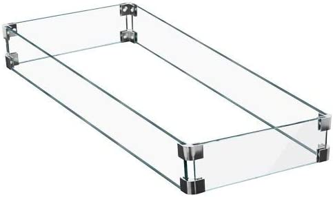AZ Patio Heaters AWS-RT30 Rectangular Glass Wind Screen