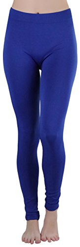 ToBeInStyle Women's Poly Blend Full Length Leggings - R.Blue - One Size Regular