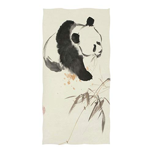 CIXUAN Beach Towel Panda Chinese Painting Lightweight Absorbent Quick Dry Pool Towels for Travel Kids Adults(Extra Large 74