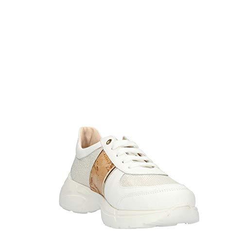 36 Alviero N02770030 Martini Mujer Zapatillas Classe Prima Blanco TTaqw6pn