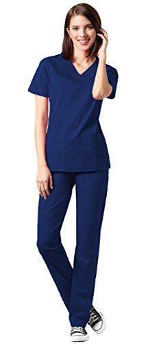 WonderWink Womens V neck Pant Scrub