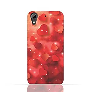 HTC Desire 650 TPU Silicone Case with Seamless Heart Pattern Design