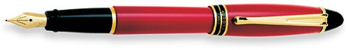 Aurora Ipsilon Resin Red Medium Point Fountain Pen - AU-B11R-M (Red Resin Fountain Pen)