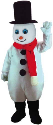 Mr Snowman Adult Mens Costumes (Mr Snowman Lightweight Mascot Costume)