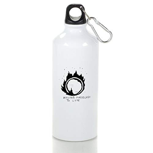 Wenlitee Hale-Storm Aluminum Outdoor Sports Bottle Mountaineering Kettle White S
