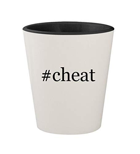 #cheat - Ceramic Hashtag White Outer & Black Inner 1.5oz Shot Glass