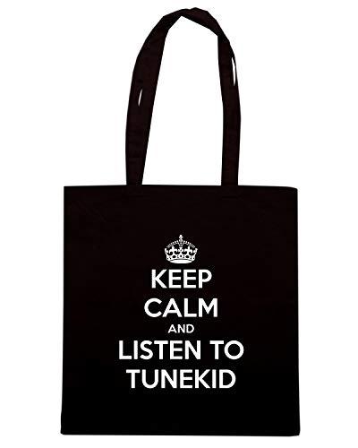 TUNEKID Shopper TKC1133 Speed KEEP AND Shirt TO Borsa Nera LISTEN CALM nqxaIHZav