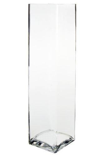 Amazon Koyal Wholesale 404351 6 Pack Tall Square Glass Vases 4