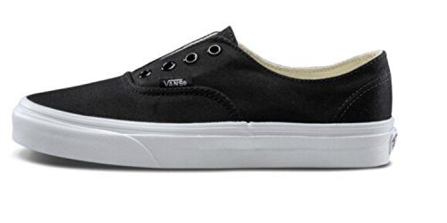 Vans Women's Authentic Gore Skateboarding Shoes (6 B(M) US/4.5 D(M) US, Black/True White/Brushed Twill)